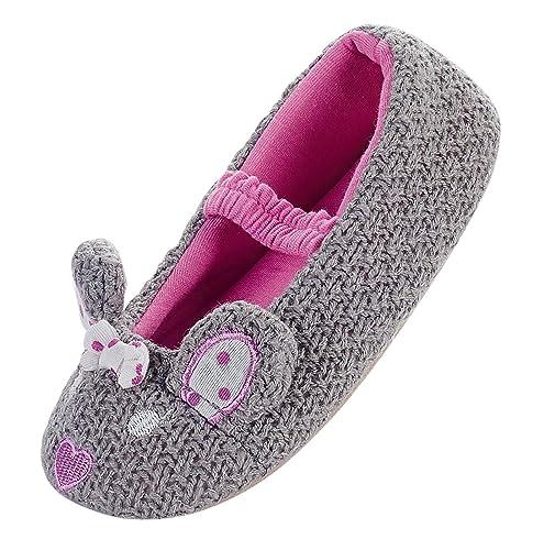 amazon com girls winter warm cute knited cartoon ballerina bedroom