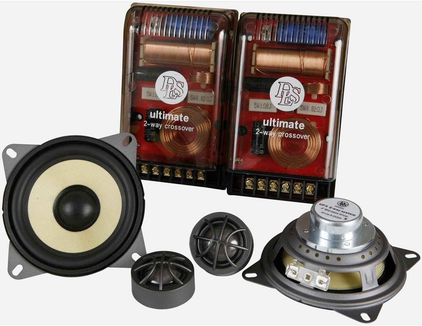 DLS UP4 Ultimate Series 2-Way 160W Component Speaker System Pair