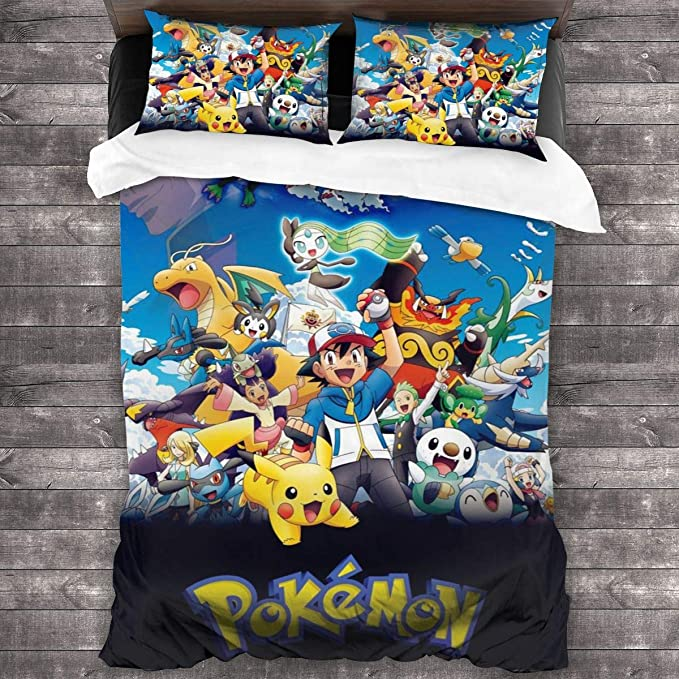 YIWU Anime Dragon Ball Duvet Cover Set Children//Adolescents 3D Bedding Set Super Soft 1 Duvet Cover and 2 Pillowcases Twin//Full Size