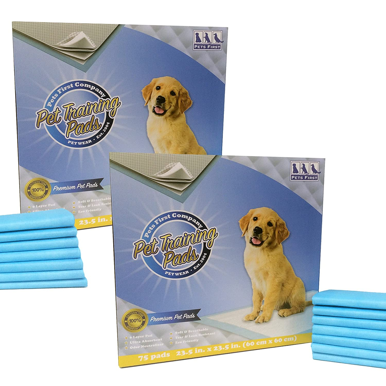 150 Counts Premium Training Pads (150 Count) Newest Version Most Absorbent Puppy Pads. Latest Tech Dog Pee Pads