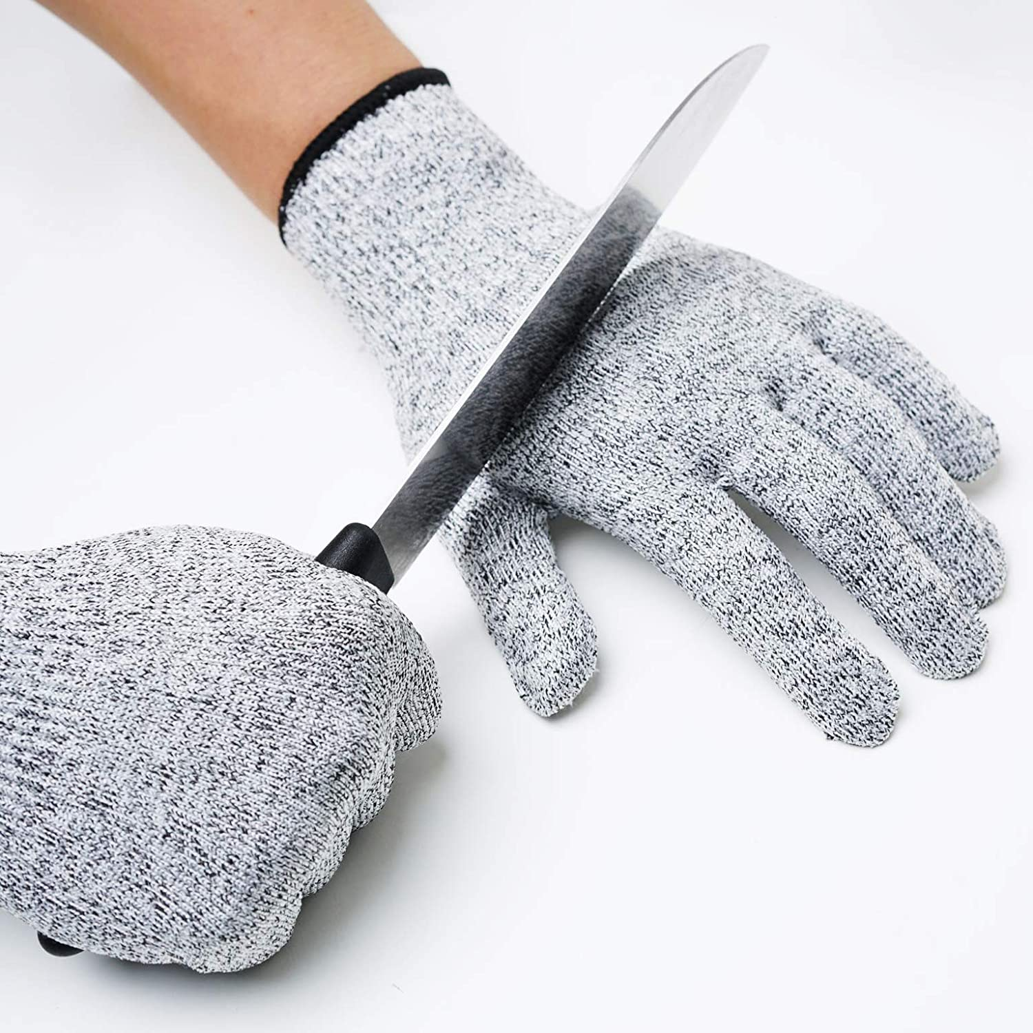 Cut Resistant Gloves Food Grade Level 5 Protection,Kitchen Meat Cutting,Oyester shucking,Gardon wood carving (Extra Large)