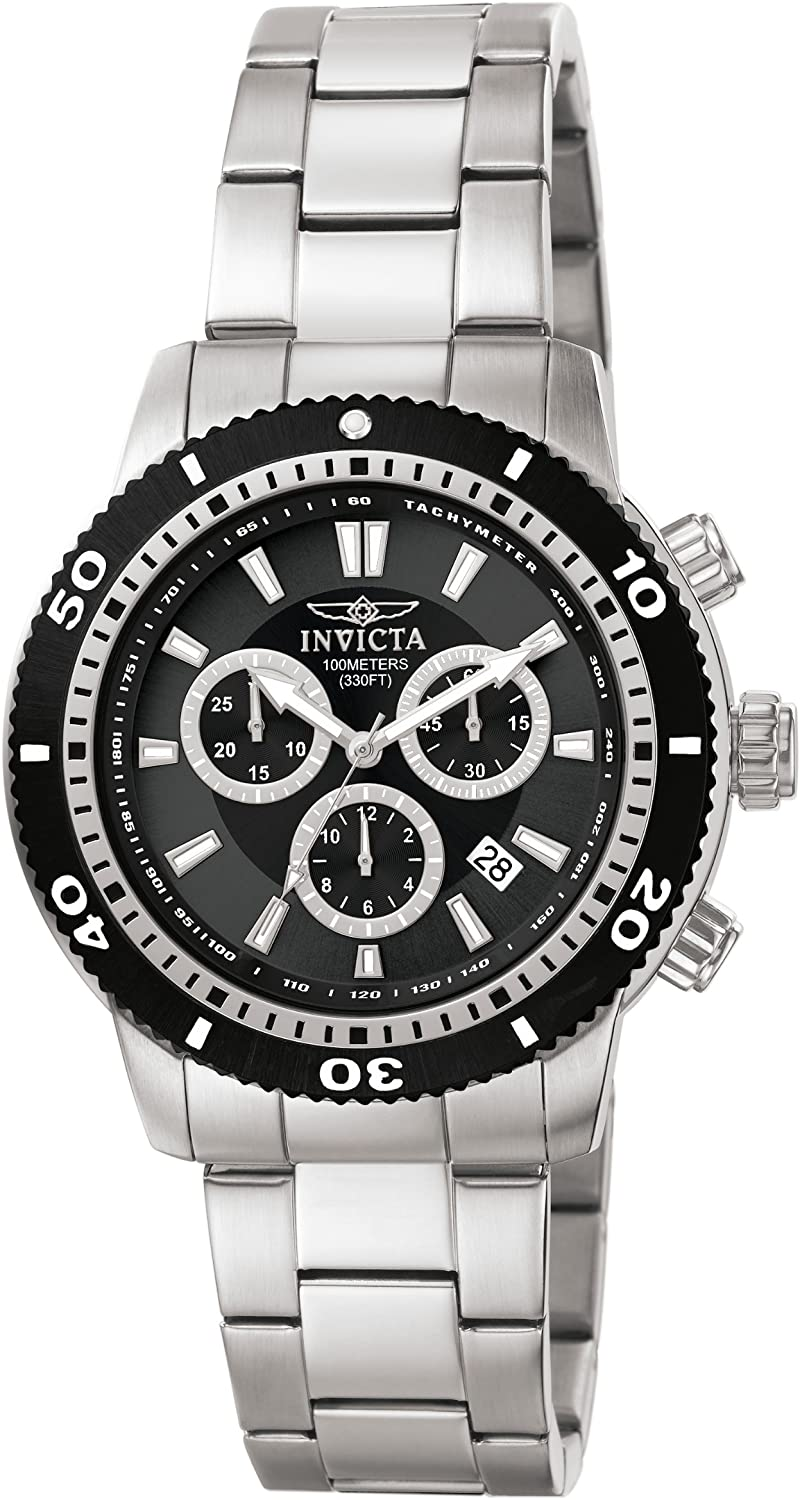 Invicta Men's 1203 II Collection Chronograph Stainless Steel Watch with Link Bracelet