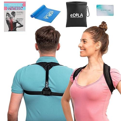 Posture Corrector Brace for Women Men and Kids - Wearable Underclothes & Adjustable Clavicle Support Upper Back Neck Pain Relief - Shoulder Hunch Back Postural Correction