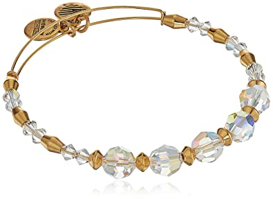 76343a18ad3 Amazon.com: Alex and Ani Swarovski Crystal Beaded, Frost Bangle ...