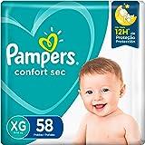 Fralda Pampers Confort Sec XG - 58 fraldas