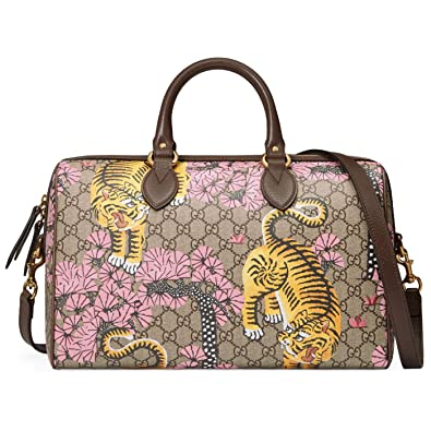 72c66fde62d Amazon.com  Gucci GG Supreme Leather Bengal Tiger Boston Satchel Shoulder  Bag  Shoes
