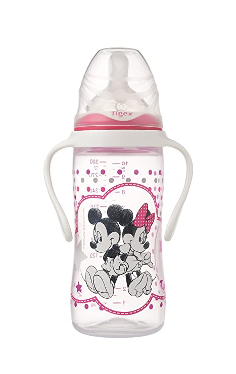 Tigex Minnie - Biberón irrompible 330 ml silicona + 6 meses ...