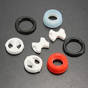 Amazon.com: 8Pcs Ceramic Disc Silicon Washer Insert Turn Replacement ...