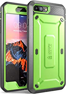 Supcase Unicorn Beetle Pro Series Phone Case Designed for Iphone 8 Plus, with Built-In Screen Protector Full-Body Rugged Holster Case for Apple Iphone 7 Plus 2016/ Iphone 8 Plus 2017 Release (Green)