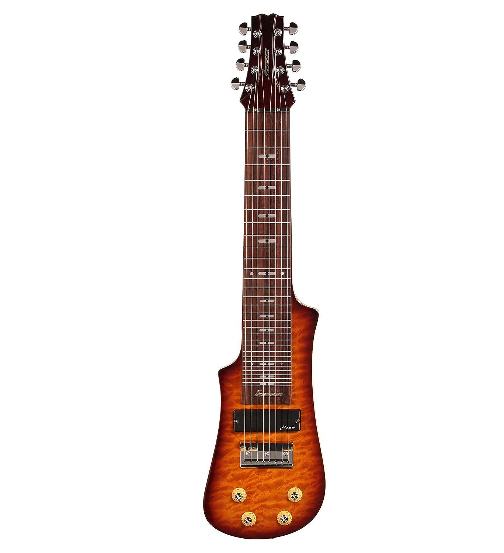 Vorson LT2308 VS 8-String Lap Steel Guitar with Gig Bag, Transparent Vintage Sunburst