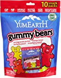 Yummy Earth Gummy Bears, Og, Family Sz, 10-Count (Pack of 4)
