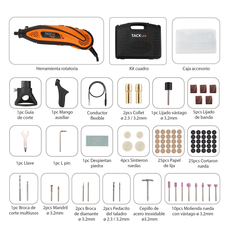 Mini amoladora Tacklife con 80 accesorios por solo 37,99€