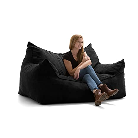 Fantastic Big Joe Imperial Fufton In Comfort Suede Plus Black Alphanode Cool Chair Designs And Ideas Alphanodeonline