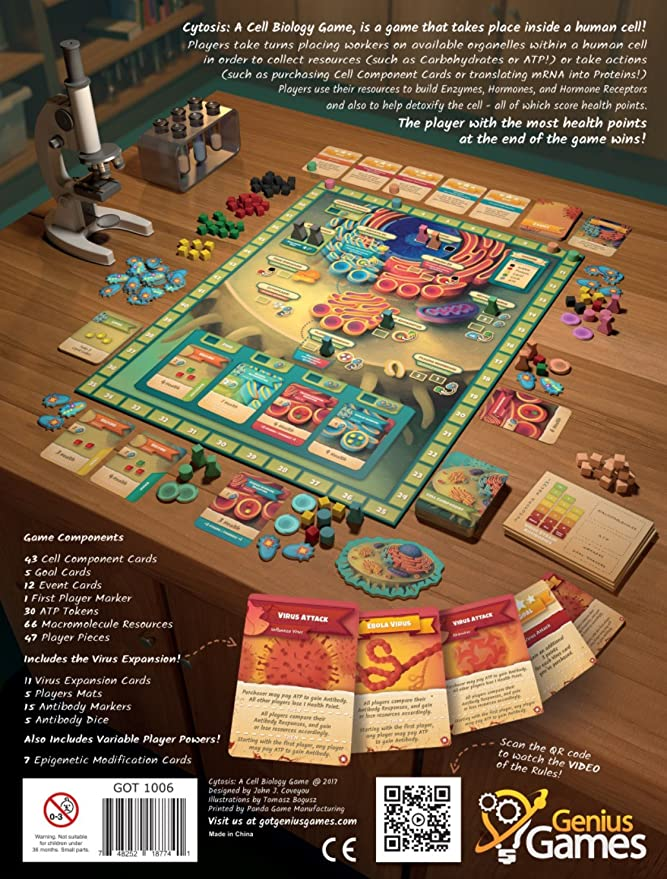 Cytosis: A Cell Biology Game | A Strategy Board Game with Accurate Science