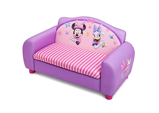 Amazon.com: Delta Childrenu0027s Products Minnie Mouse Upholstered Sofa(Discontinued  By Manufacturer): Toys U0026 Games