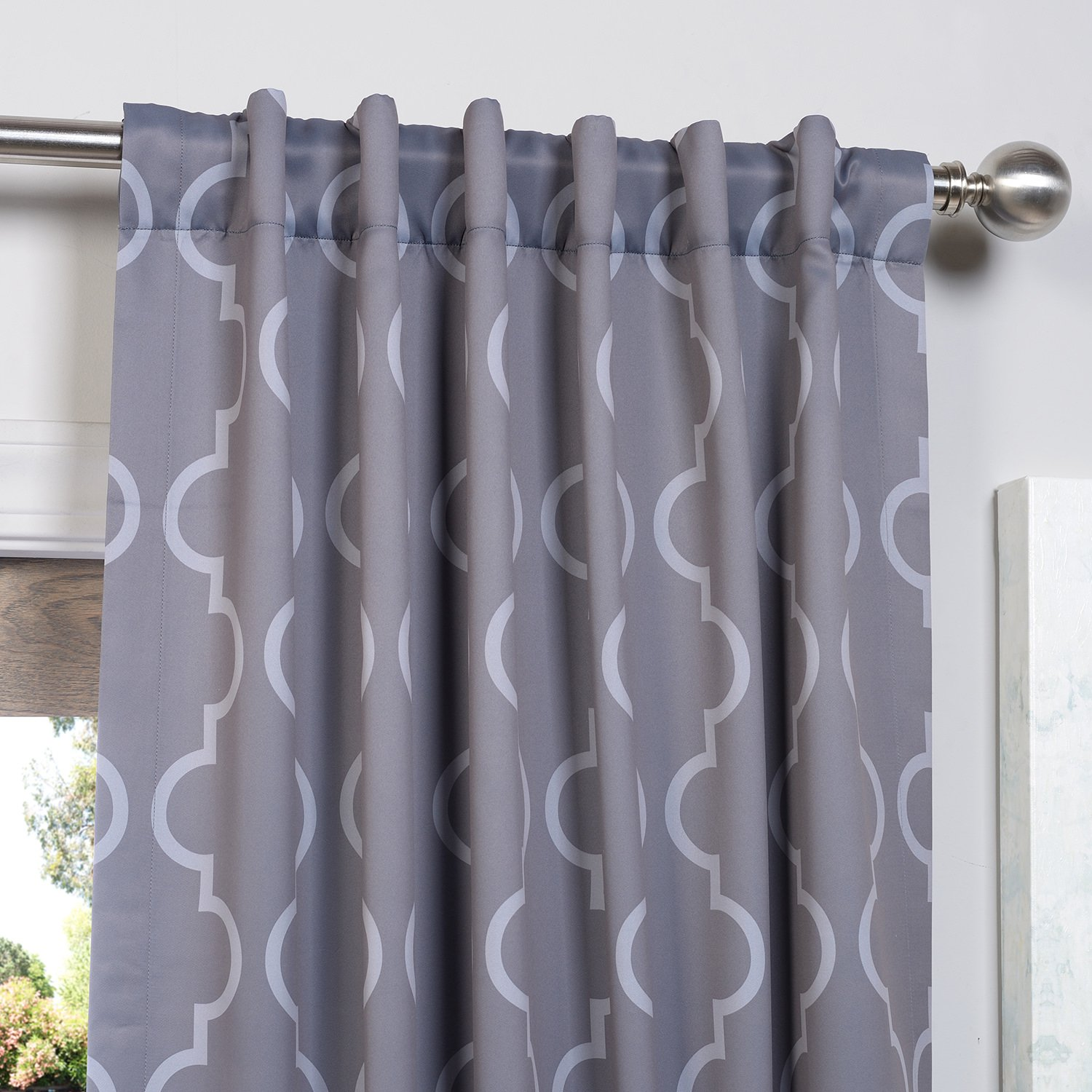Couldn t find a picture of the curtains anywhere online this is - Amazon Com Half Price Drapes Boch Kc21 120 Blackout Curtain Seville Grey Silver Home Kitchen