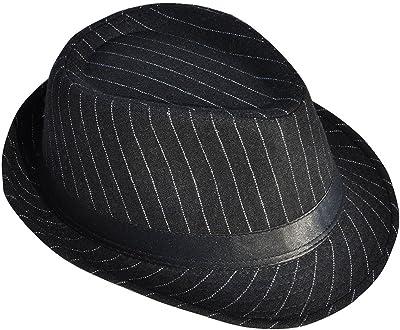 951562a5 Livingston Men Pin Striped Short Brim Gangster Fedora Hat
