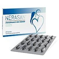 Nerasan Kapseln, Performance für Männer, mehr Freude beim Sex, unterstützt Vitalität, Hormone und Fruchtbarkeit mit Zink, Selen u.a.