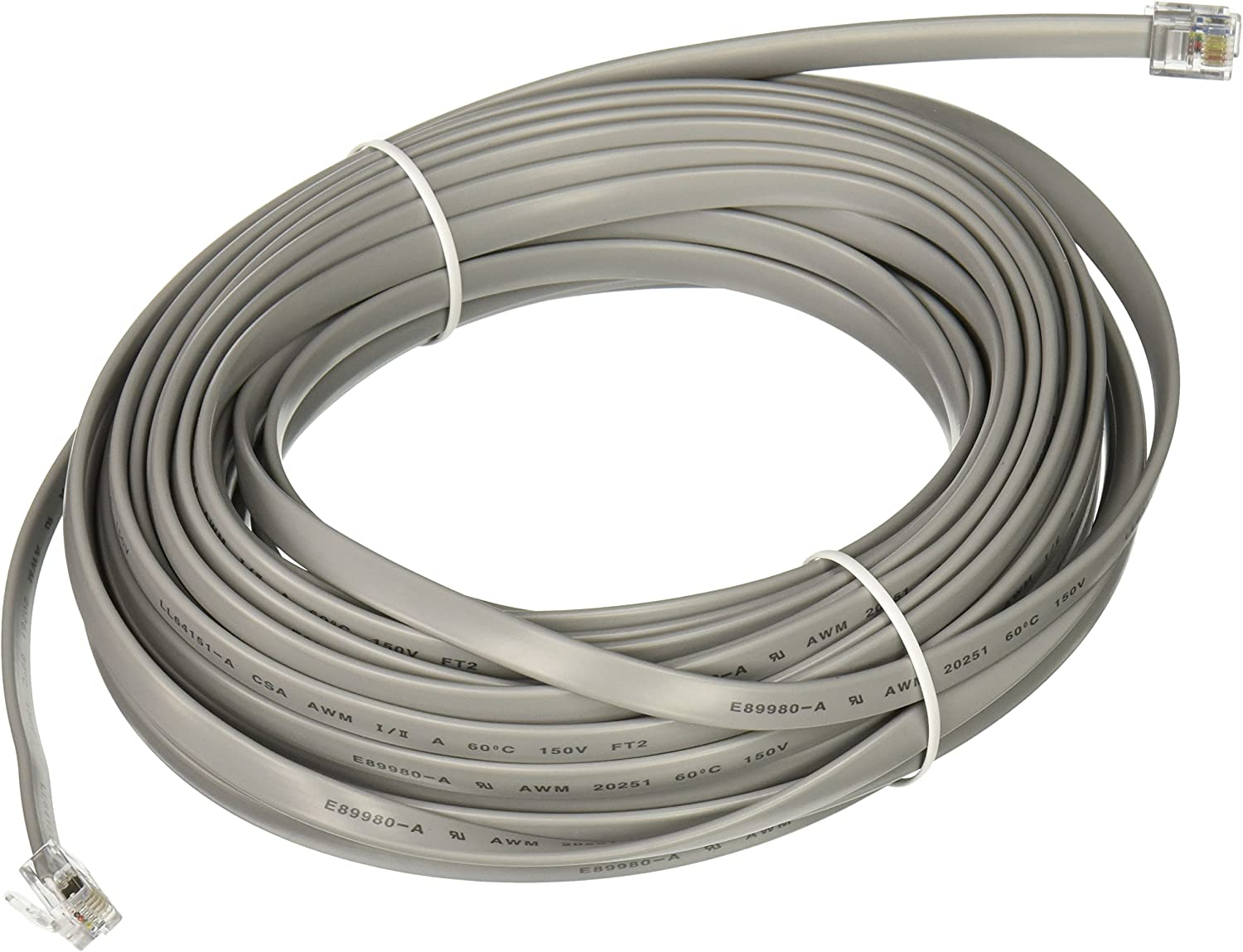 20cm cable Straight wired RJ12 cable