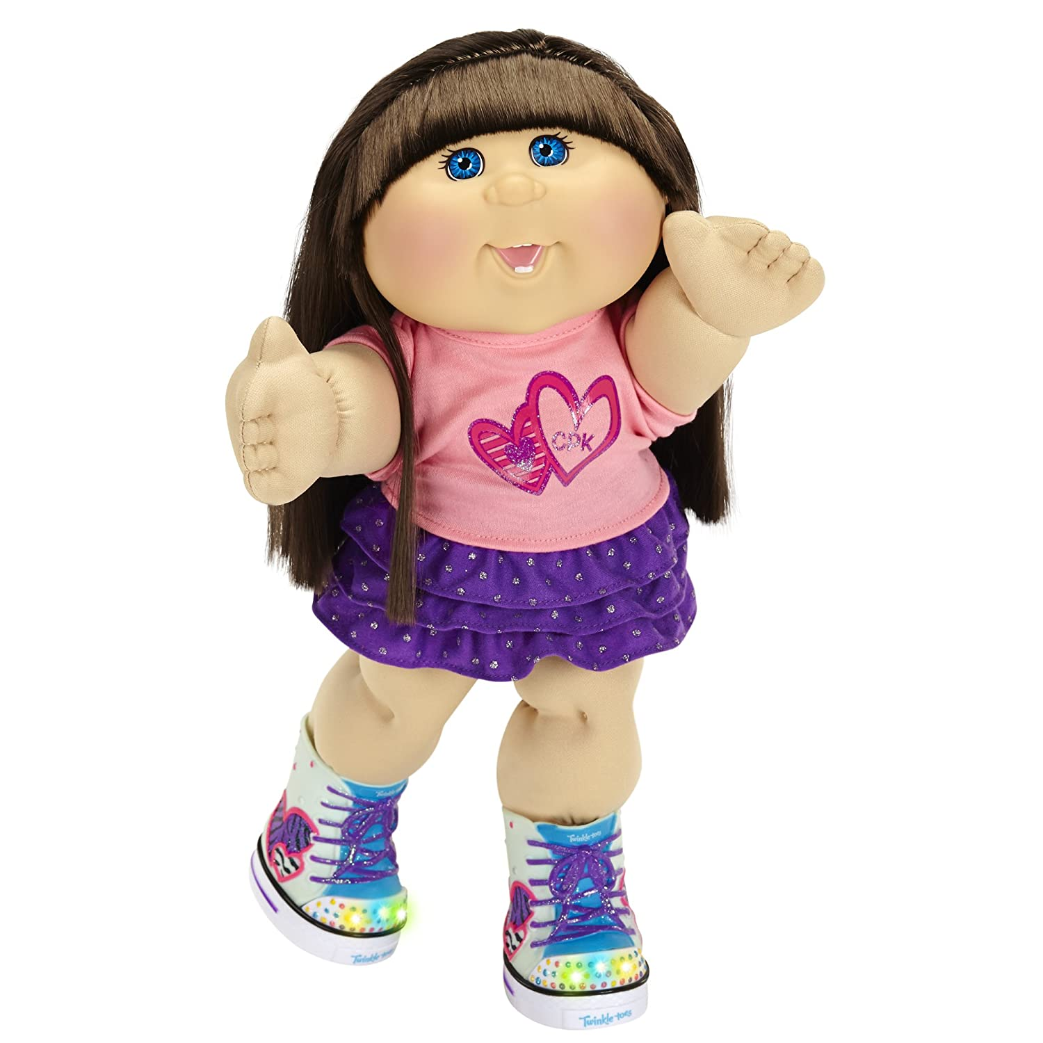 Cabbage Patch Kids Caucasian Girl Brunette Hair Blue Amazon
