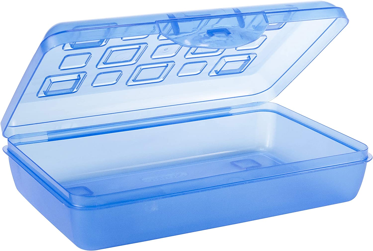 Amazon.com : Sterilite Pencil Box with Splash Tint Lid (17224812 ...