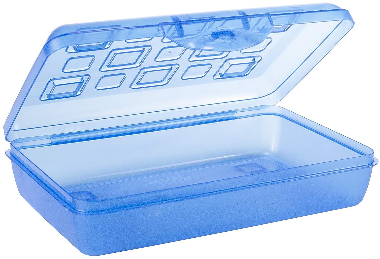17224812 Sterilite Pencil Box with Splash Tint Lid