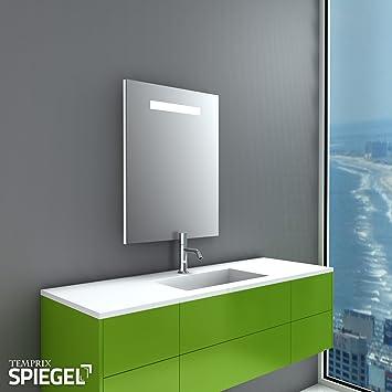 Badezimmerspiegel Badspiegel mit Beleuchtung Linea Moderner Spiegel ...