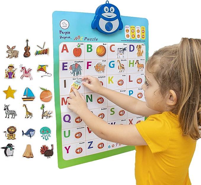 Children Learning Poster ABC DIN A1//A2//A3 Alphabet Nursery holding Cushion Mural