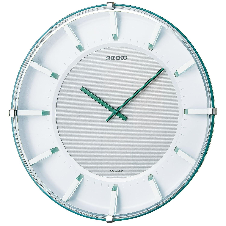 SEIKO CLOCK(セイコークロック) ラクロック ソーラーアナログ掛時計(薄緑) SF237M SF237M B008XCXPN6