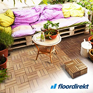 Floordirekt Er Set Qm Klickfliesen Ranger Akazienholz - Klick fliesen 50x50