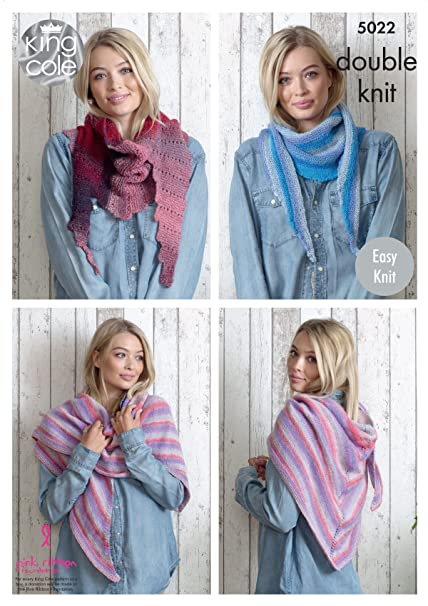 King Cole Ladies Double Knitting Pattern Womens Easy Knit Winter