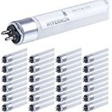 Hyperikon T5 LED Tube 3.75 Foot, 25W=55W, Dual End Ballast Compatible, Frosted Lens, UL, DLC, Crystal White, 25 Pack