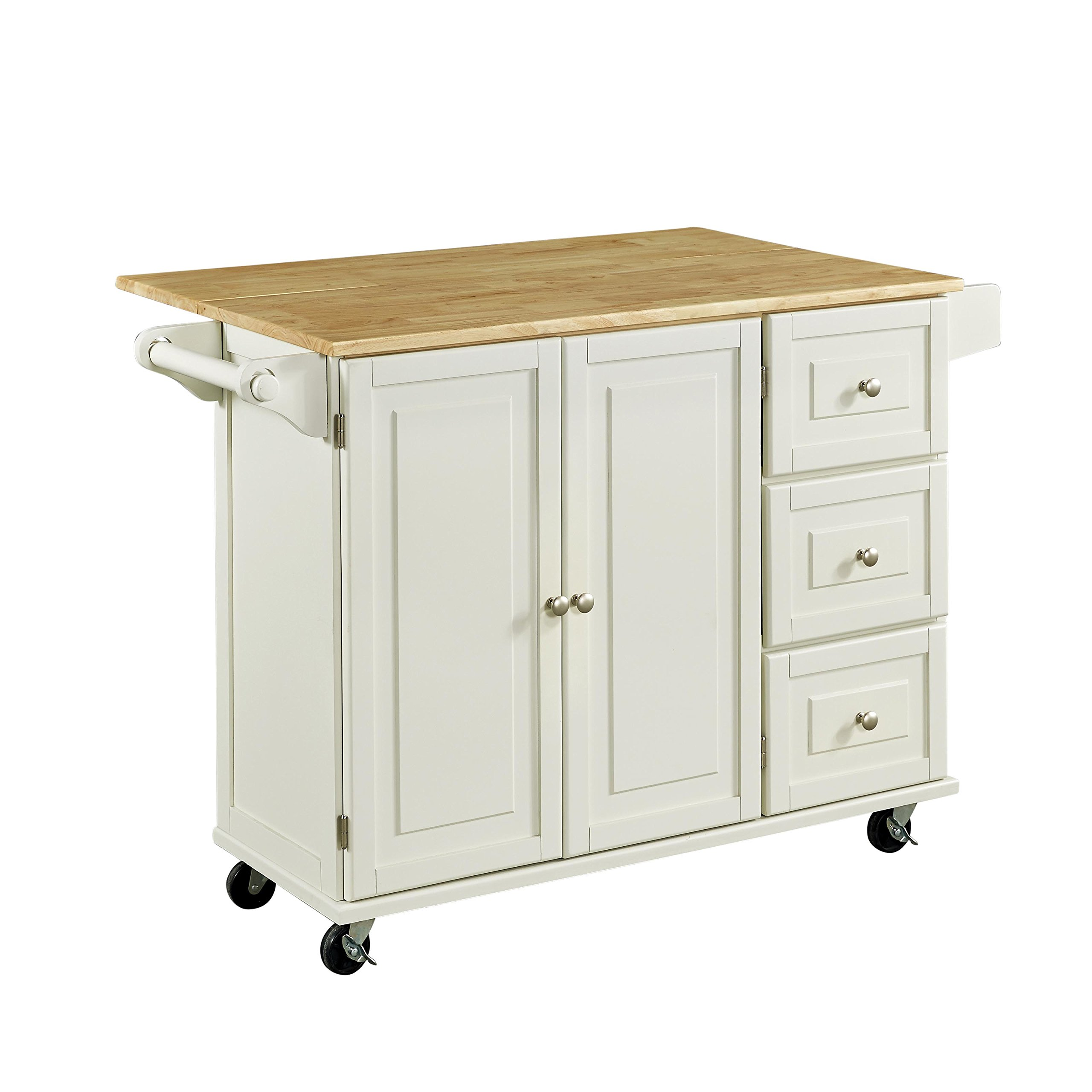 Home Styles 4511-95 Liberty Kitchen Cart with Wood Top, White by Home Styles (Image #10)