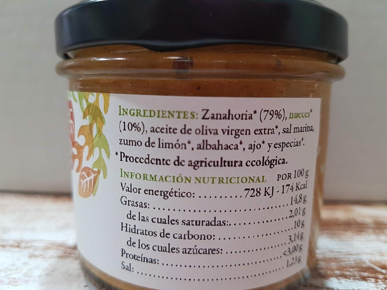 Paté Vegetal Ecológico de Zanahorias con nueces y albahaca: Amazon.es: Alimentación y bebidas