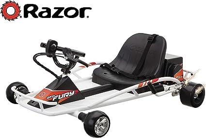 Amazon Com Razor Ground Force Drifter Fury Kart White Sports