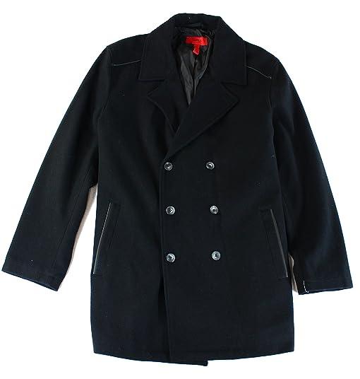 Amazon.com: Alfani Mens Slim Fit Wool Blend Faux Leather Trim ...