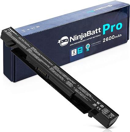 NinjaBatt Pro Batería para ASUS A41-X550A A41-X550 F550 F450 X550 R510C A550 K550 P550 X550C X550DP X450 A550L X550J R510: Amazon.es: Electrónica