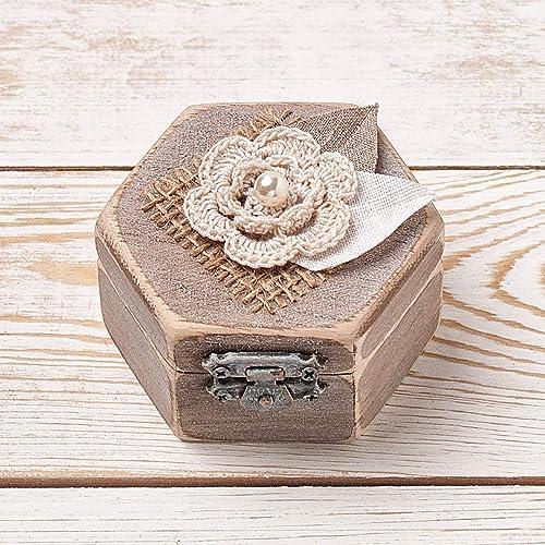 Rustic Wedding Ring Box Wooden Ring Bearer Box Proposal Box Gift Ring Holder
