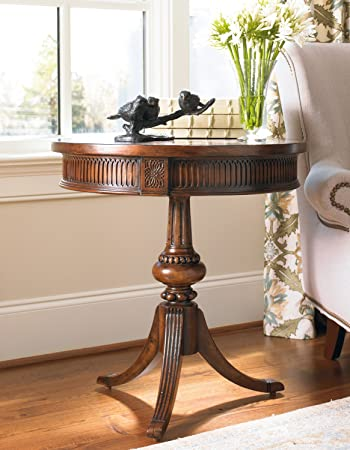 hooker furniture round pedestal accent table medium wood dining