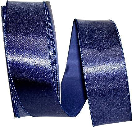 Reliant Ribbon Satin Value Wired Edge Ribbon Purple 1-1//2 Inch X 50 Yards