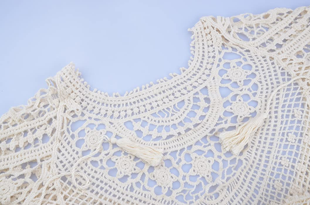 3dd4ff38bc31 ... Jeasona Women s Bathing Suit Cover Up Crochet Lace Bikini Swimsuit Dress  ...