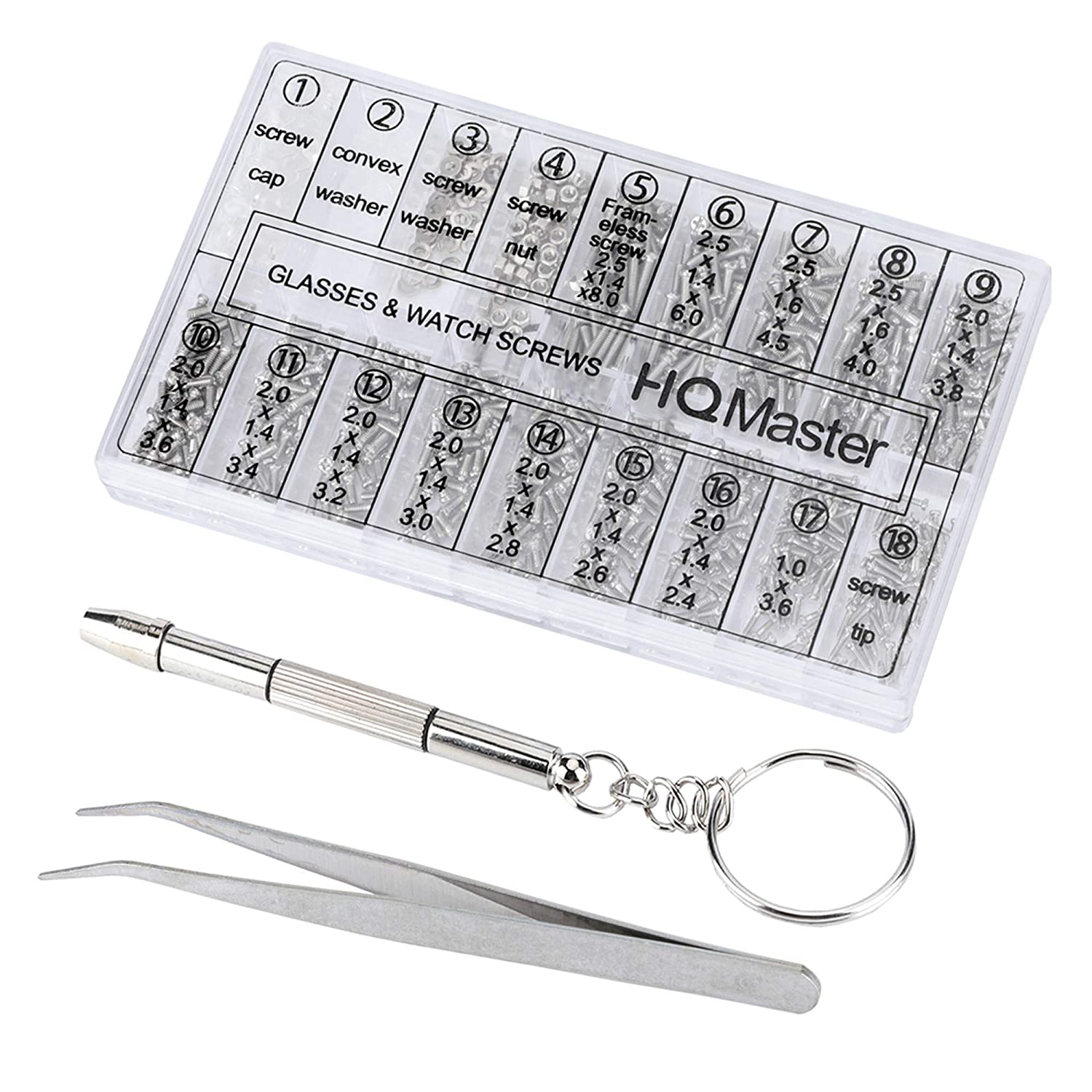 1000Pcs//Set Tiny Watches Screws Fit For Small Micro Eye glasses Repair Tools