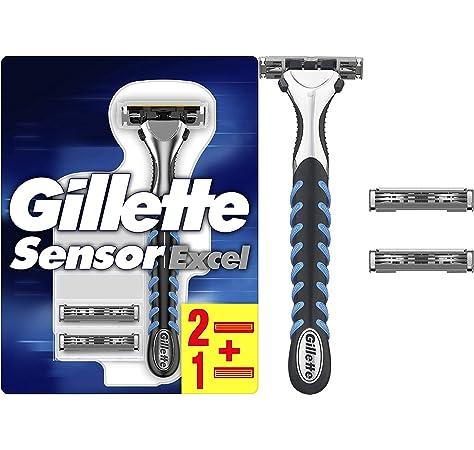 Gillette Sensor Excel - Maquinilla de afeitar para hombre, con 3 hojas: Amazon.es: Salud y cuidado personal