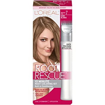 loral paris root rescue kit de coloration de racines blond fonc 7 - Coloration Racine