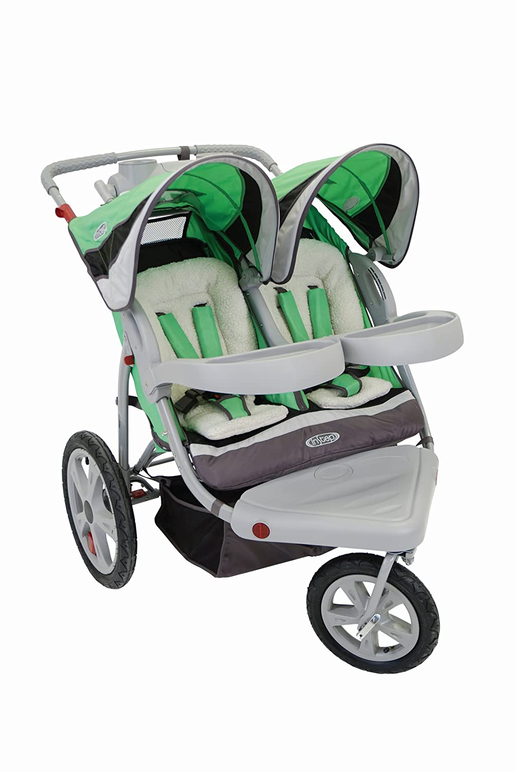 Instep 01157CCWU Grand Safari Double Jogger - Green/Black Dorel Juvenile