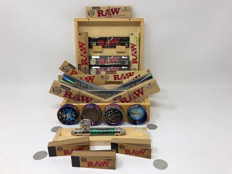 Raw Rizla Connoisseur Natura Classic - Juego de filtros de cucarachas orgánicas, color negro y caja de regalo de papel para el día del padre, Navidad, cumpleaños Prima 1