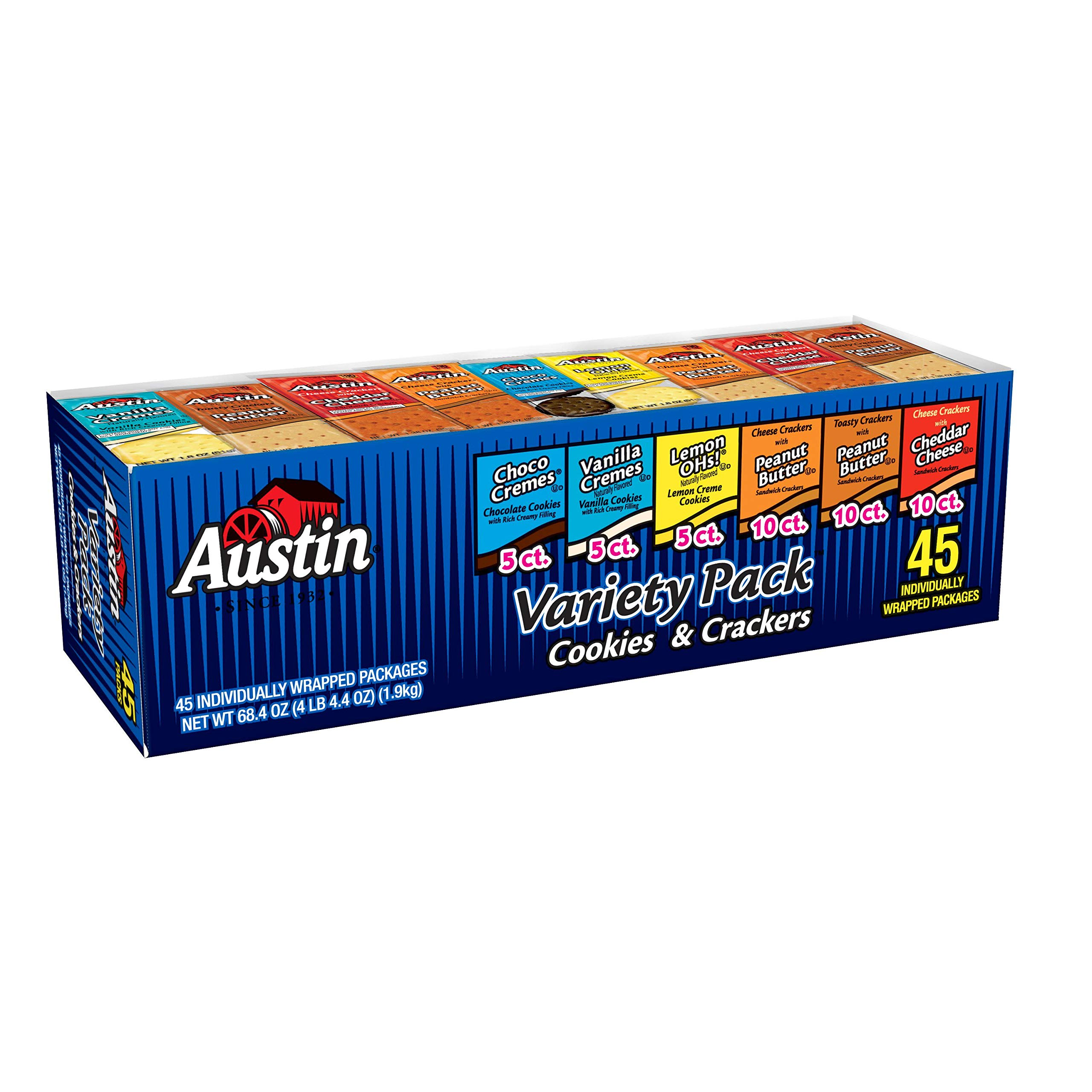 Austin, Cookies and Crackers, Variety Pack, 68.4 (45 Packs) by Kellogg's