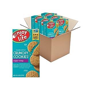 Enjoy Life Foods Crunchy Cookies, Sugar Crisp, 6.3 Oz (Pack of 6)
