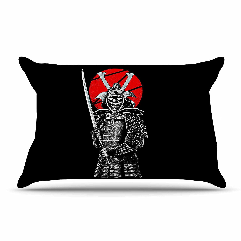 30 x 20 Pillow Sham Kess InHouse BarmalisiRTB SamuraiZ Red White Digital