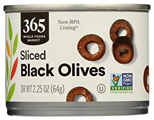 365 by Whole Foods Market, Black Olives, Medium - Sliced, DR WT 2.25 Ounce